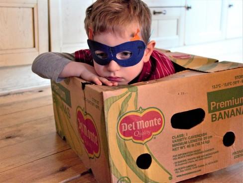 la famille sardine, la tête dans les cartons, déménagement, super héro, zéro waste, zéro déchet, slow life