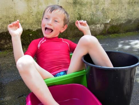 de la piscine à la bassine, famille sardine, vie minimaliste, slow life, zéro déchet